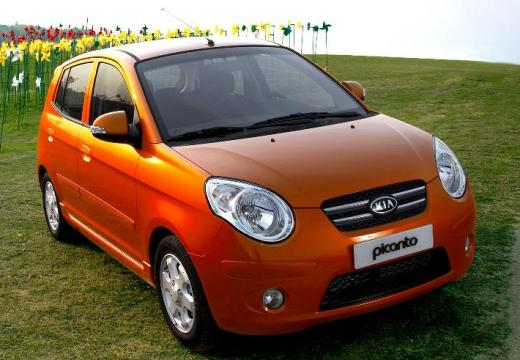 KIA Picanto hatchback pomarańczowy przedni prawy