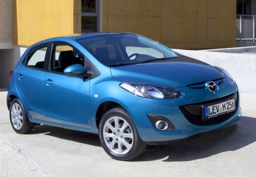 MAZDA 2 III hatchback niebieski jasny przedni prawy