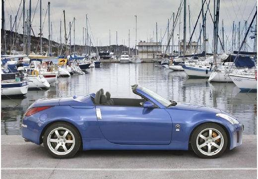 NISSAN 350 Z roadster niebieski jasny boczny prawy
