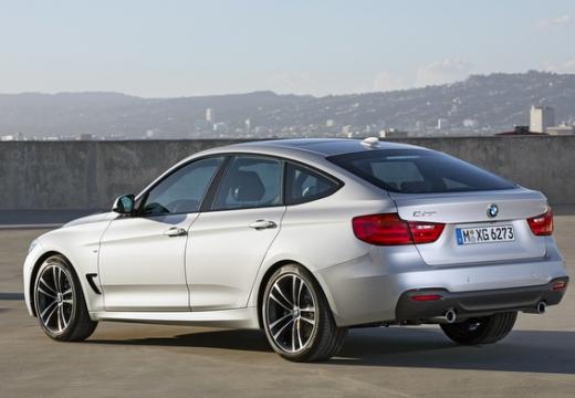 BMW Seria 3 Gran Turismo hatchback silver grey tylny lewy