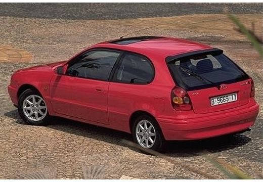 Toyota Corolla IV hatchback czerwony jasny tylny lewy