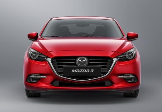 MAZDA 3 V hatchback czerwony jasny przedni