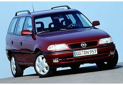 OPEL Astra II kombi bordeaux (czerwony ciemny) przedni prawy