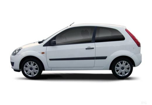 FORD Fiesta hatchback biały boczny lewy