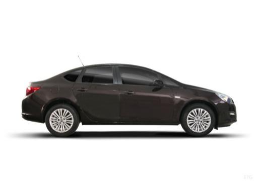OPEL Astra IV sedan czarny boczny prawy