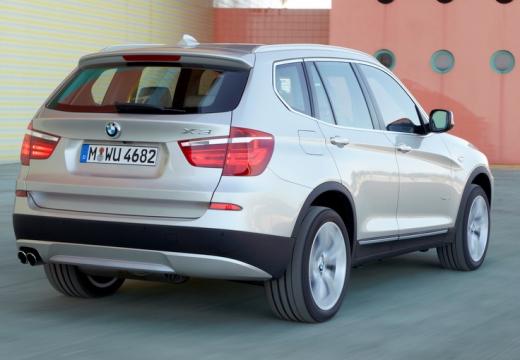 BMW X3 X 3 F25 I kombi silver grey tylny prawy