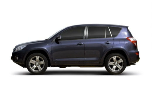 Toyota RAV4 V kombi niebieski jasny boczny lewy