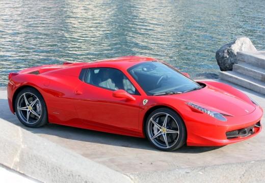 FERRARI 458 kabriolet czerwony jasny przedni prawy