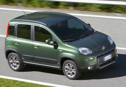 FIAT Panda III hatchback zielony przedni prawy