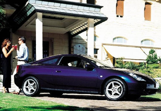 Toyota Celica coupe niebieski jasny przedni prawy