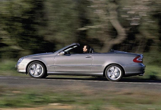 MERCEDES-BENZ Klasa CLK kabriolet silver grey boczny lewy