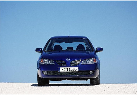 NISSAN Almera II II hatchback niebieski jasny przedni