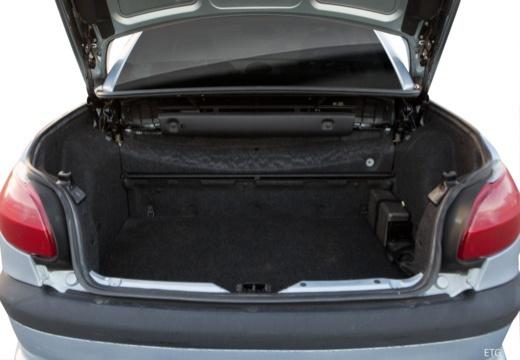 PEUGEOT 206 CC I kabriolet przestrzeń załadunkowa