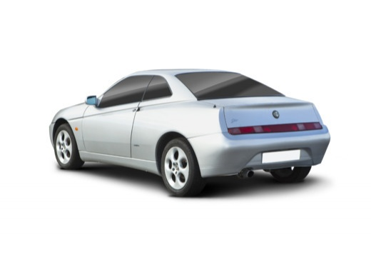 ALFA ROMEO GTV II coupe silver grey tylny lewy
