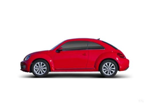 VOLKSWAGEN New Beetle Beetle I coupe czerwony jasny boczny lewy