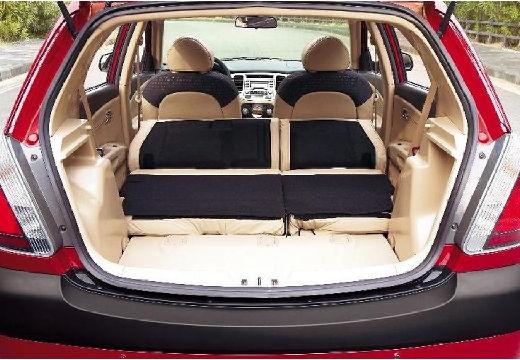 KIA Rio III hatchback czerwony jasny przestrzeń załadunkowa