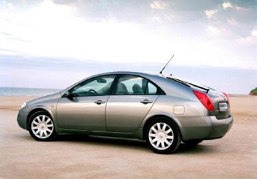 NISSAN Primera V hatchback szary ciemny tylny lewy
