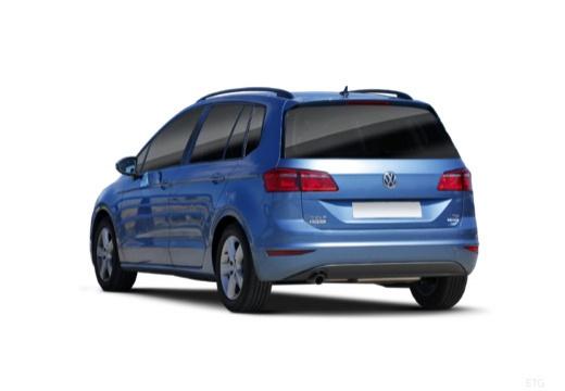 VOLKSWAGEN Golf VII Sportsvan I hatchback niebieski jasny tylny lewy