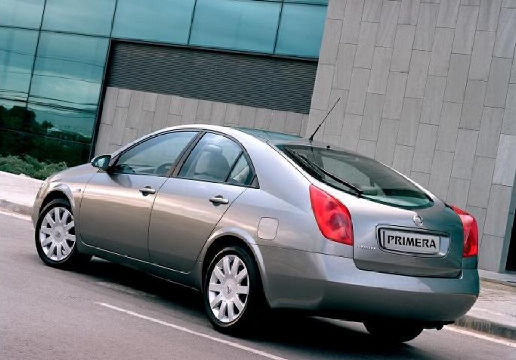 NISSAN Primera IV hatchback szary ciemny tylny lewy