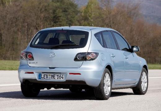 MAZDA 3 II hatchback silver grey tylny prawy