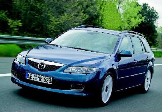 MAZDA 6 Sport II kombi niebieski jasny przedni lewy