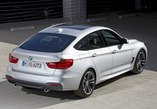 BMW Seria 3 Gran Turismo hatchback silver grey tylny prawy