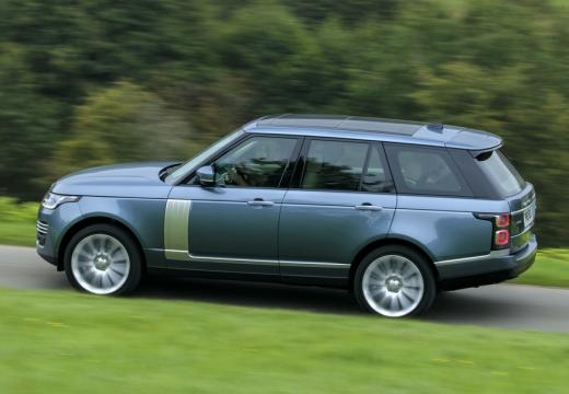 LAND ROVER Range Rover VII kombi niebieski jasny boczny lewy