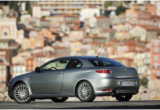 ALFA ROMEO GT coupe silver grey tylny lewy