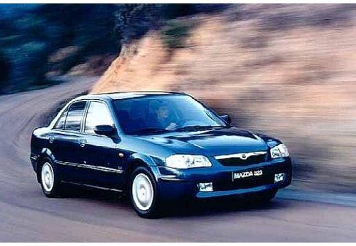 MAZDA 323 sedan niebieski jasny przedni prawy