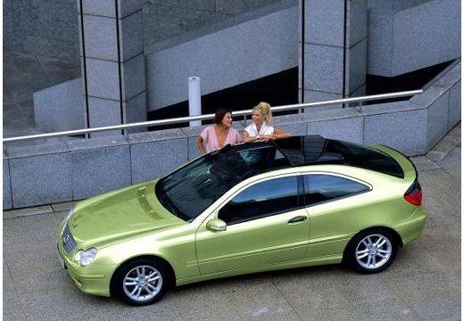 MERCEDES-BENZ Klasa C Sport CL203 I coupe zielony jasny boczny lewy