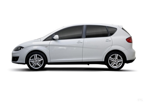 SEAT Altea II hatchback biały boczny lewy