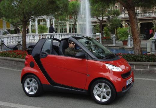 SMART fortwo cabrio II kabriolet czerwony jasny przedni prawy