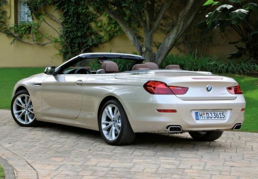 BMW Seria 6 Cabriolet F12 I kabriolet beige tylny lewy