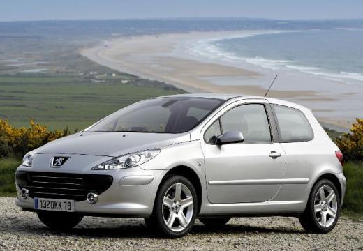 PEUGEOT 307 hatchback silver grey przedni lewy