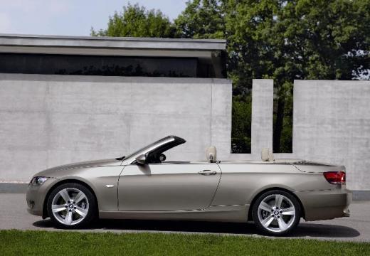 BMW Seria 3 kabriolet silver grey boczny lewy