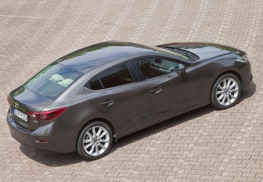 MAZDA 3 V sedan silver grey tylny prawy