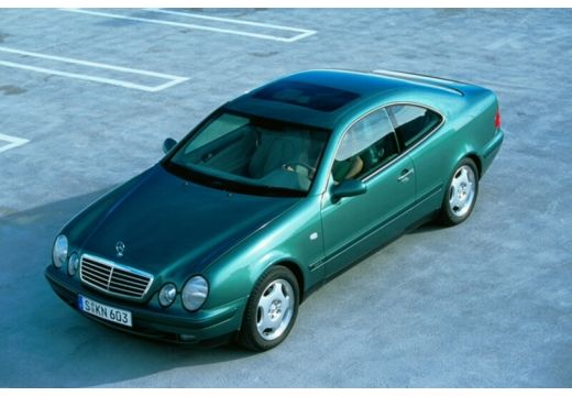MERCEDES-BENZ Klasa CLK coupe zielony przedni lewy