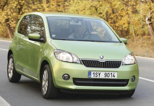 SKODA Citigo I hatchback zielony przedni prawy