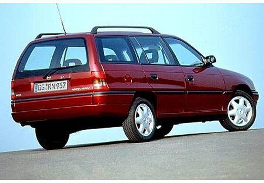 OPEL Astra II kombi bordeaux (czerwony ciemny) tylny prawy
