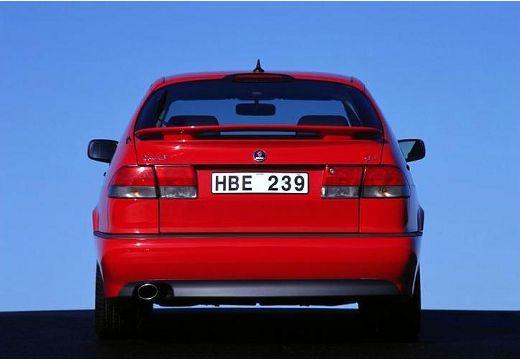 SAAB 9-3 I hatchback czerwony jasny tylny