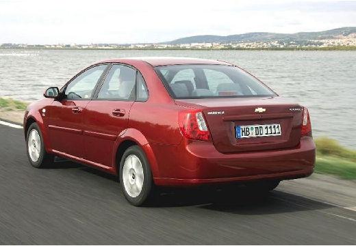 CHEVROLET Lacetti sedan bordeaux (czerwony ciemny) tylny lewy