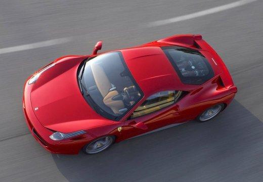 FERRARI 458 coupe czerwony jasny przedni lewy