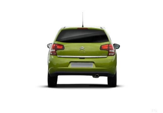 CITROEN C3 II I hatchback zielony tylny