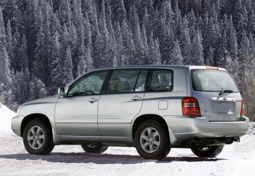 Toyota Highlander kombi silver grey tylny lewy