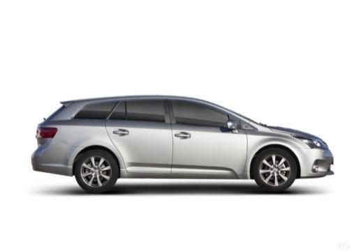Toyota Avensis VI kombi silver grey boczny prawy