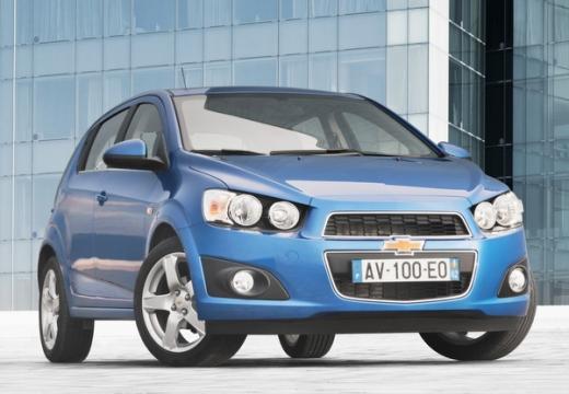 CHEVROLET Aveo III hatchback niebieski jasny przedni prawy