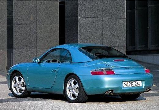 PORSCHE 911 Cabrio 996 kabriolet niebieski jasny tylny lewy
