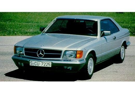 MERCEDES-BENZ Klasa SEC coupe silver grey przedni lewy