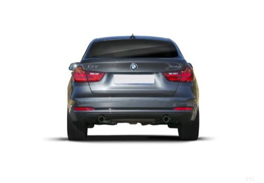 BMW Seria 3 Gran Turismo F34 I hatchback szary ciemny tylny
