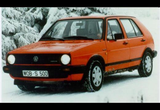 VOLKSWAGEN Golf II hatchback pomarańczowy przedni lewy